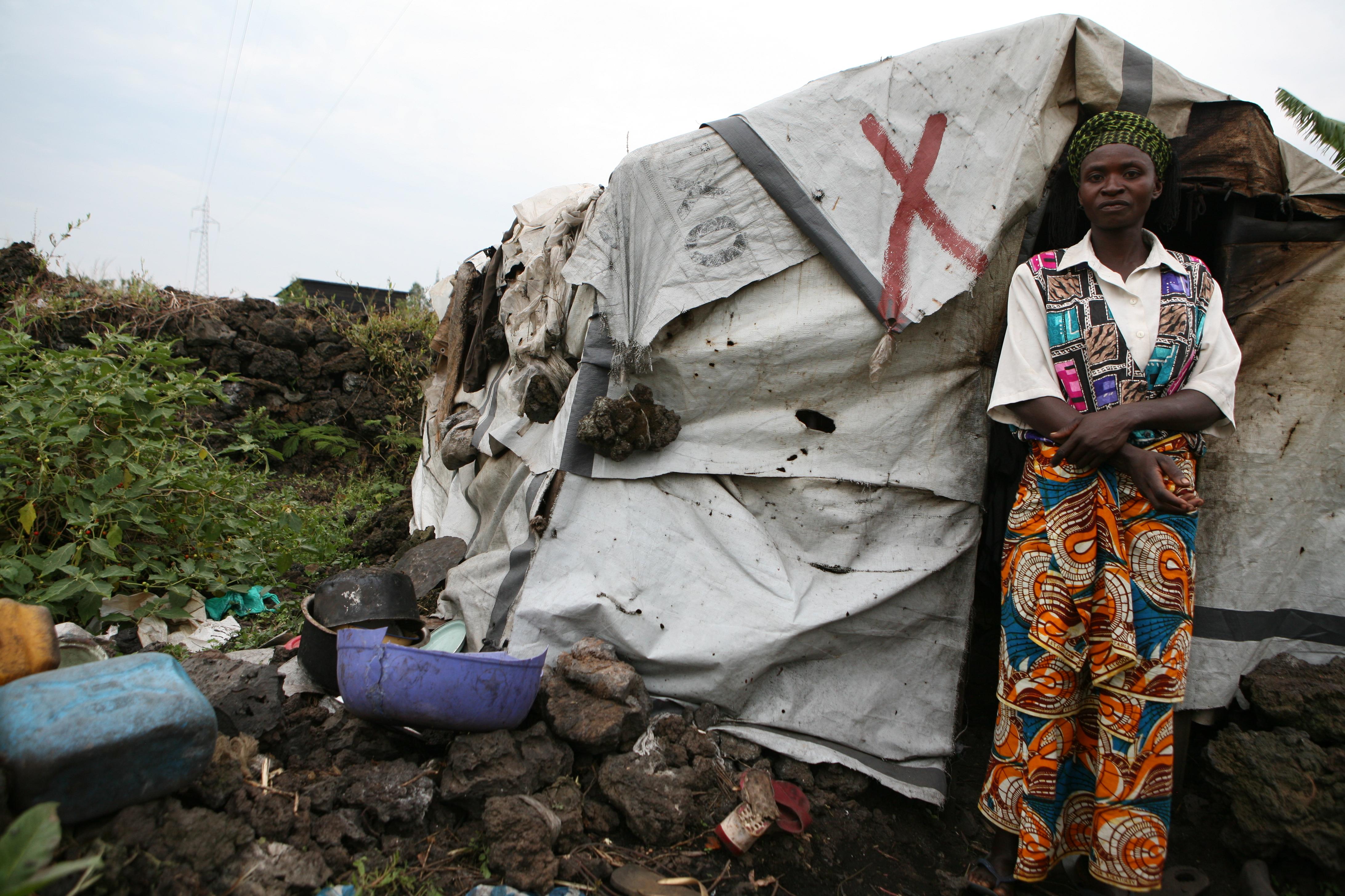 The Bambuti settlement in Mugunga lacks the most basic amenities. Photo: Zahra Moloo/IRIN