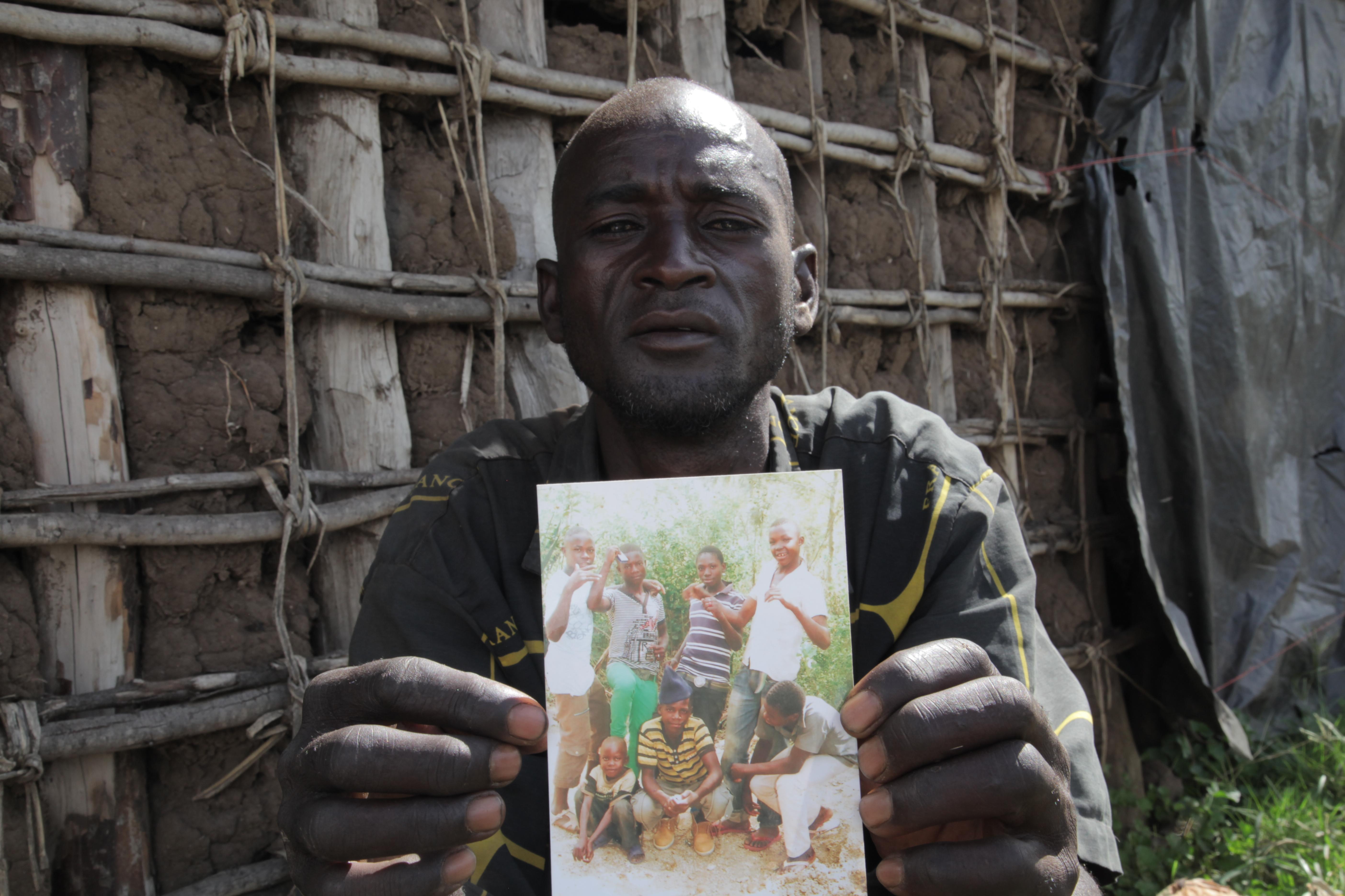 Leonard Salala said his son was shot and killed by a mine guard[Al Jazeera]