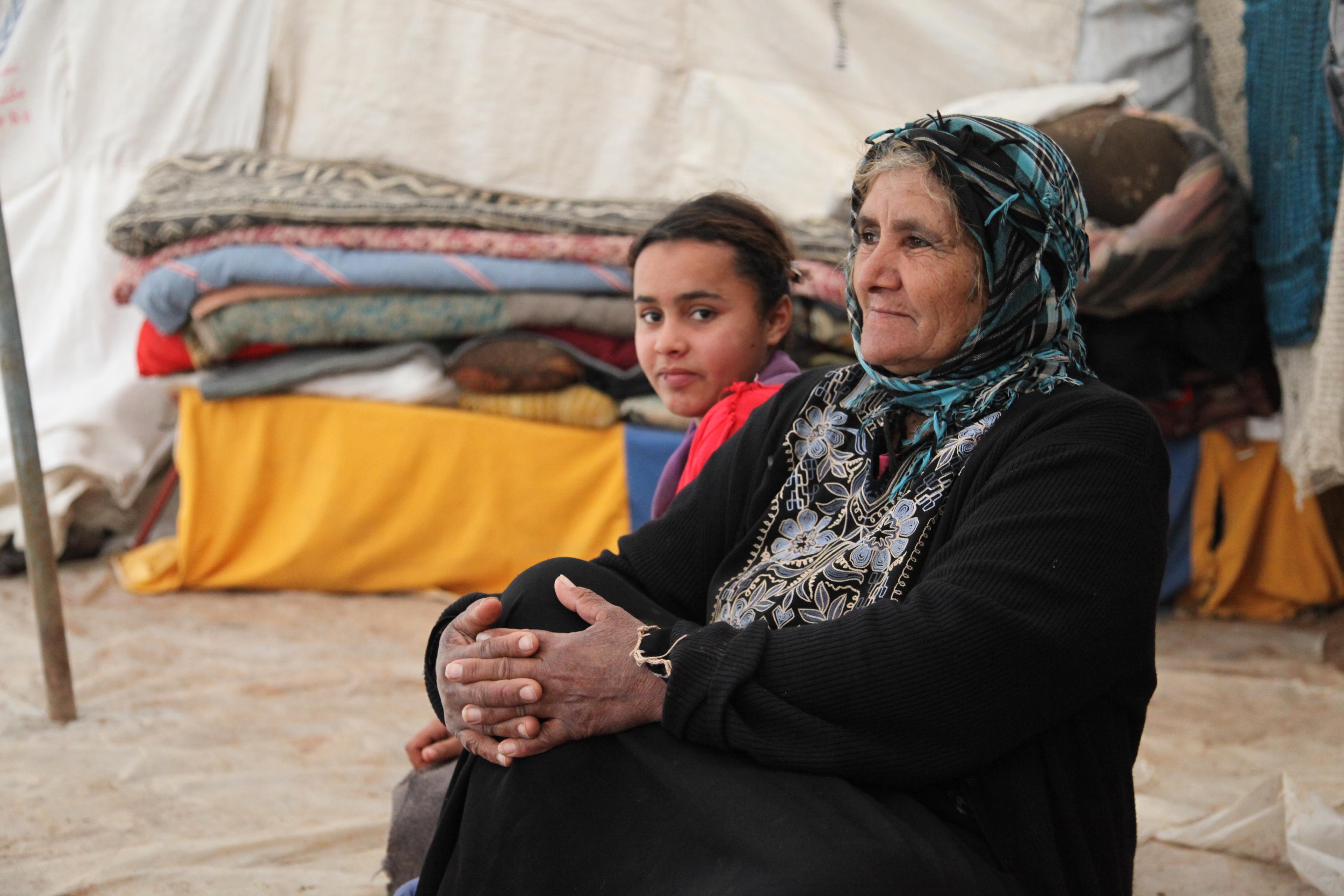 Fatima Abid Aouda Soraiya Fakir, displaced from the village of Al-Maitah. Zahra Moloo/IRIN
