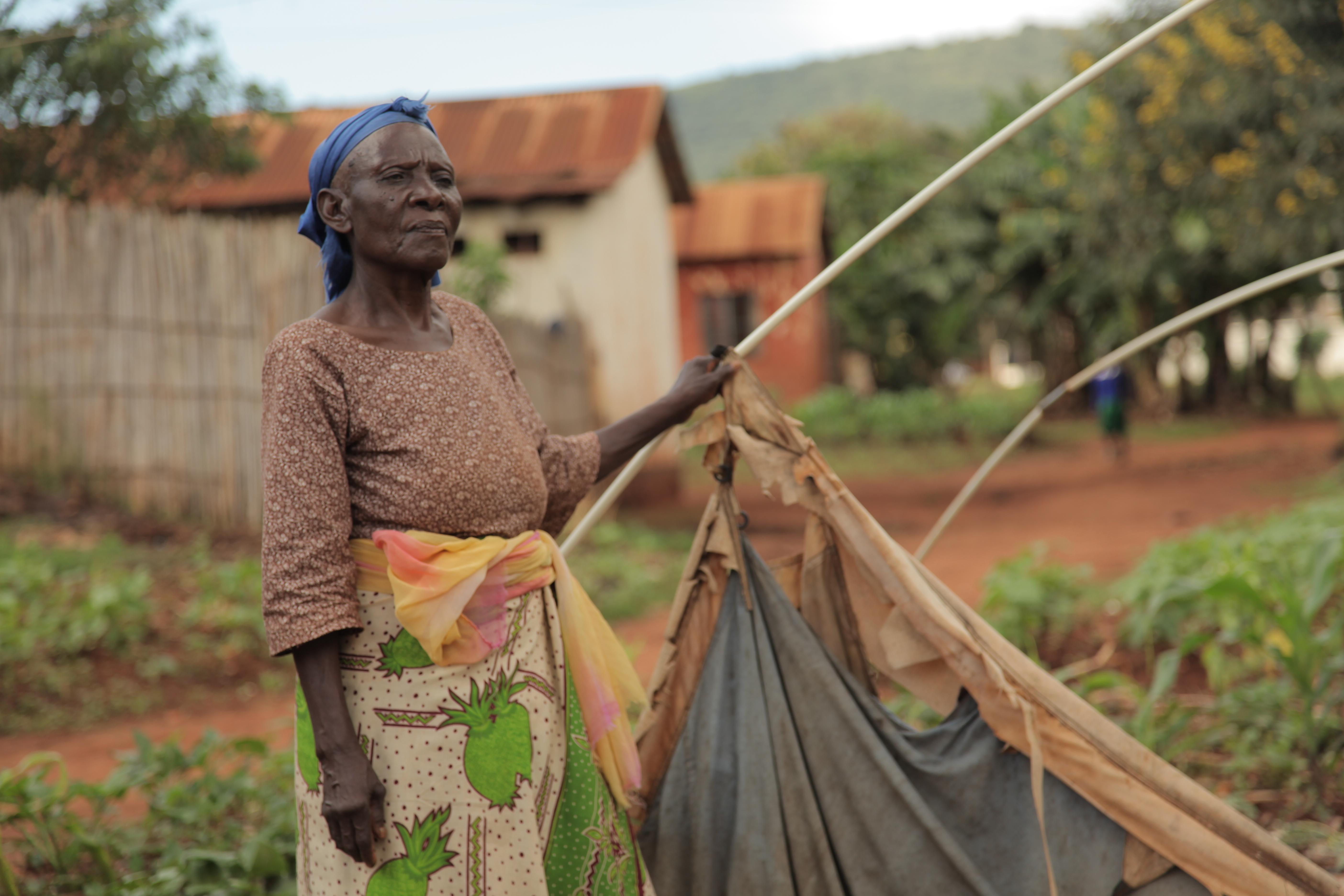 Mwajuma Hussein, 75, has been displaced for six years. Photo: Zahra Moloo